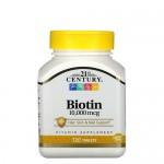 21st Century, Biotin (Биотин) 10000 мкг, 120 таб.