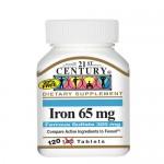 21st Century, Iron (Железо) 65 мг, 120 таб.