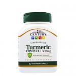21st Century, Turmeric (Куркума) Complex 500 мг, 60 капс.