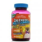 21st Century, Zoo Friends+Extra C (Мультивитамины для детей), 150 жевательных мишек