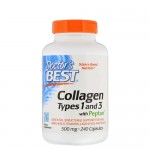 Doctor's Best, Collagen Types 1 & 3, 240 капс.