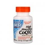 Doctor's Best, CoQ10 with BioPerine 200 мг, 60 веган-капс.