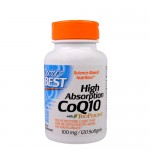 Doctor's Best, CoQ10 with BioPerine 100 мг, 120 гель-капс.