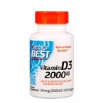 Doctor's Best, Vitamin D (D-3) 2000 IU 180 гель-капс.