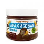 Happy Monkey Паста арахисовая шоколадная с мёдом 330 гр.