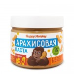 Happy Monkey Паста арахисовая с мёдом 330 гр.