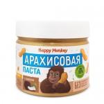 Happy Monkey Паста арахисовая с мякотью кокоса и мёдом 330 гр.