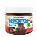 Happy Monkey Паста ореховая фундук, арахис, какао 330 гр.