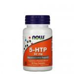 NOW 5-HTP 50 мг 30 веган-капс.