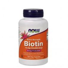 NOW Biotin (Биотин) 10000 мкг 120 веган-капс.