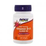 NOW Vitamin D (D-3) 5 000 IU 120 гель-капс.
