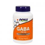 NOW GABA (гамма-аминобутировая кислота) 750 мг, 100 веган-капс.