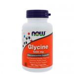 NOW Glycine (Глицин) 1000 мг, 100 веган-капс.