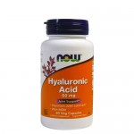 NOW Hyaluronic Acid (Гиалуроновая кислота) 50 мг, 60 капс.