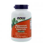 NOW Magnesium/Potassium Aspartate/Taurine (магний/калий/таурин) 120 веган-капс.