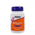 NOW Melatonine (Мелатонин) 3 мг, 60 веган-капс.