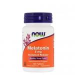 NOW Melatonine (Мелатонин) 5 мг, 120 веган-таб.