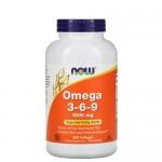 NOW Omega-3-6-9 1000 мг  250 гель-капс.