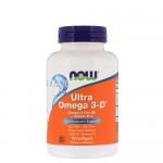 NOW Omega-3 + D3 Ultra 600 EPA/300 DHA, 90 гель-капс.