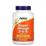 NOW Omega Super 3-6-9 1200 мг  180 гель-капс.