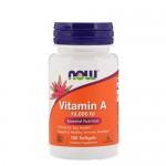 NOW Vitamin A 10 000 IU 100 гель-капс.