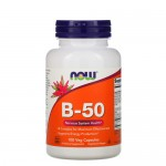 NOW Vitamin B-50 (Комплекс) 100 веган-капс.