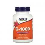 NOW Vitamin C 1000 мг с шиповником 100 веган-таб.