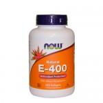 NOW Vitamin E-400 (смесь токоферолов) 250 гель-капс.