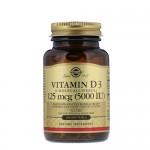 Solgar Vitamin D (D-3) 5 000 IU 100 гель-капс.
